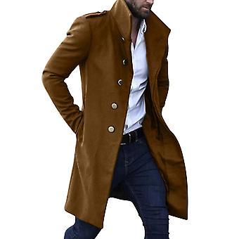 Homemiyn Hombre Color sólido Solapa Abrigo Abrigo Casual Classic Business Jacket 4 Colores