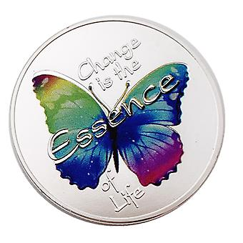 פרפר רוסי חד שינוי מצופה זהב אוסף מטבעות הנצחה אהבה פרפר לשנות זהב מטבע מתנה