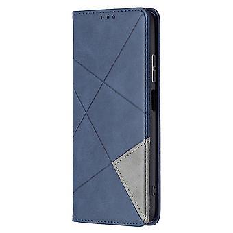 Fall für Xiaomi Redmi Note 10 Pro Flip Cover Splicing Pu Leder - blau