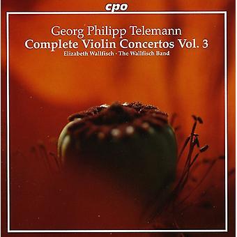 G.P. Telemann - Telemann: Concierto para violín completa, importación USA Vol. 3 [CD]