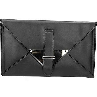 JWF Black Envolope Evening Clutch Bag Purse