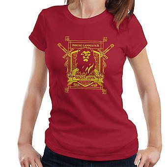 Game Of Thrones House Lannister Golden Lions Hear Us Roar Women's T-Shirt