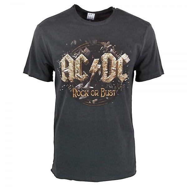 Amplifié amplifié Mens ACDC Rock ou buste T Shirt Charcoal