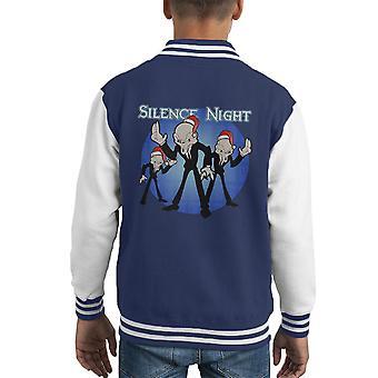 Silence Night Doctor Who Christmas Carol Kid's Varsity Jacket