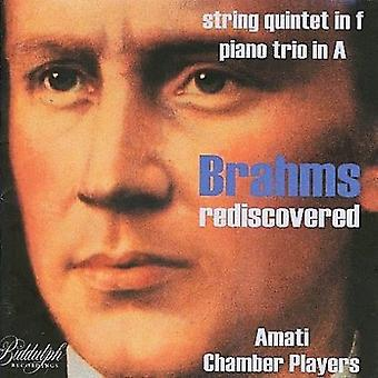 J. Brahms - Brahms Rediscovered - String Quintet in F, Piano Trio in a [CD] USA import