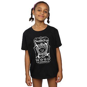 Гарри Поттер девочек шоколадные лягушки моно Label футболку
