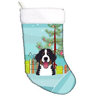 Juletre og Berner hunden julestrømpe