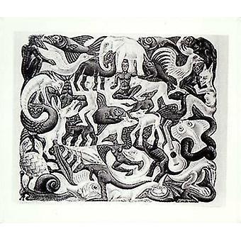 Mosaico II cartel Poster Print por M.C. Escher