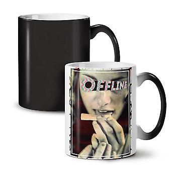 Offline Smoke Break NEW Black Colour Changing Tea Coffee Ceramic Mug 11 oz | Wellcoda