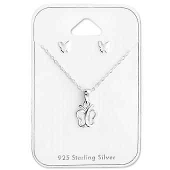 Butterfly - 925 Sterling Silver Sets - W28964X