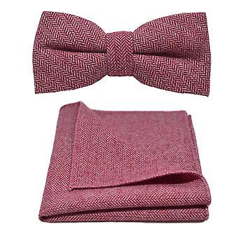 Bacca rossa spinato Bow Tie & Set Square Pocket