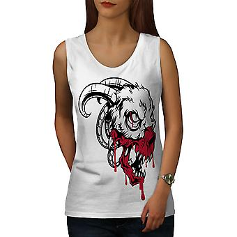 Mal la sangre Horror Animal mujeres WhiteTank Top | Wellcoda