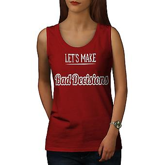 Malas decisiones mujeres divertidas RedTank Top | Wellcoda