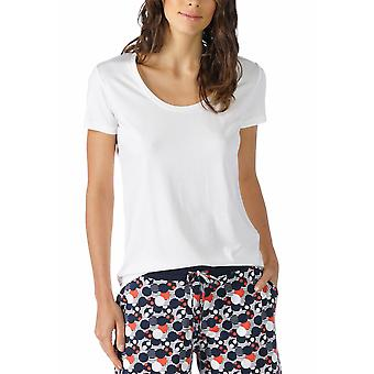 Mey 16824-405 Women's Night2Day Off White Solid Color Pijama Pyjama Top