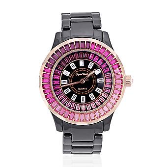 Ceramic watch adorned with Swarovski Rose crystals