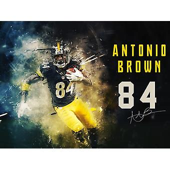 Antonio Brown Poster Pittsburgh Steelers Kunstdruck/Poster (24 x 18)