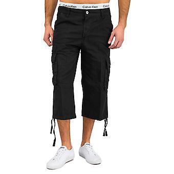 Hommes bermudas pantalons de l'été de Cargoshorts Cargo blanc coton beige noir
