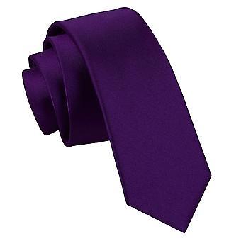 Purple Plain satijn mager gelijkspel