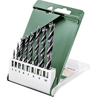 Wood twist drill bit set 8-piece Bosch Accessories 2609255215 Cylinder shank 1 Set