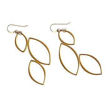 Mature earrings length 65 mm gold plated ladies earrings