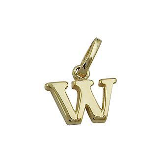 Seguidores pingentes ouro 375 de letra, letra W, 9 KT ouro