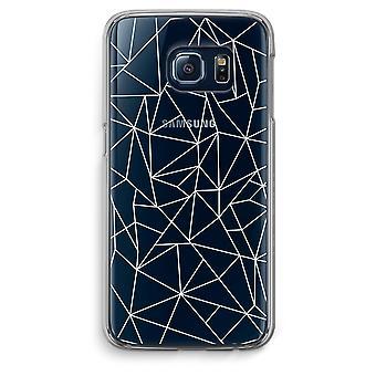Samsung Galaxy S6 bordo trasparente custodia (Soft) - linee geometriche bianchi