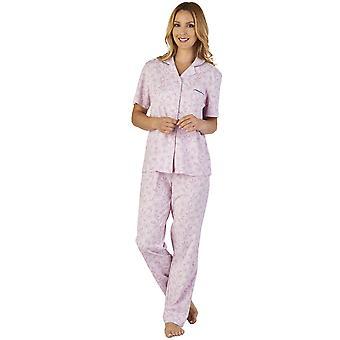 Slenderella PJ2107 Women's Meadow Jersey Floral Pajama Pyjama Set