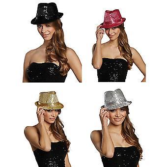 Hat paillette avec clignotants accessoires Eve Hat de lumière du nouvel an Halloween Carnaval