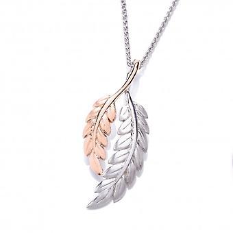 Cavendish Français argent et pendentif en or Rose plume sans chaîne