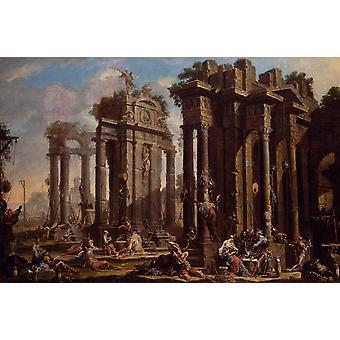 Halt of the Brigands,Alessandro Magnasco,60x40cm