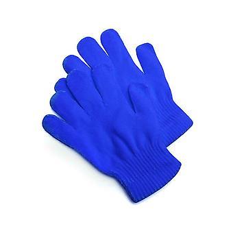 Handschoenen gebreide handschoenen blauw
