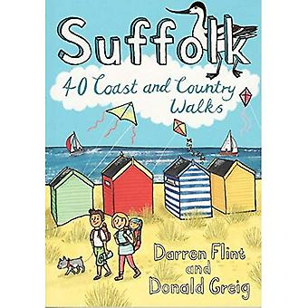 Suffolk: 40 Coast and Country Walks (Paperback)