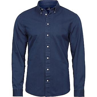 Tee Jays Mens lange mouw Casual Twill overhemd