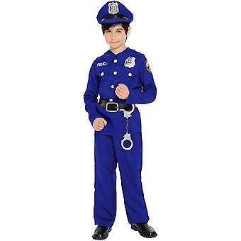 Boys Blue Police Officer Costume