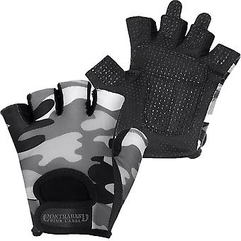 Contraband Sports 5217 Pink Label Camo Weight Lifting Gloves - Gray
