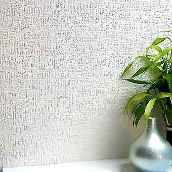 Papel tapiz pintable Duplex realzado fácil aplicar Kingston paredes techos Anaglypta