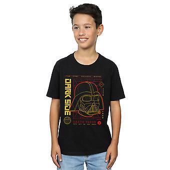 Star Wars Boys Darth Vader Dark Grid T-Shirt
