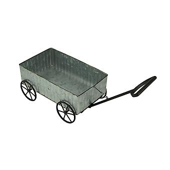 Rustic Galvanized Metal Decorative Farmhouse Wagon Planter
