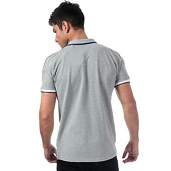 Mens Tokyo Laundry Finley Point Polo Shirt In Grey- Short Sleeve- Ribbed Cuffs
