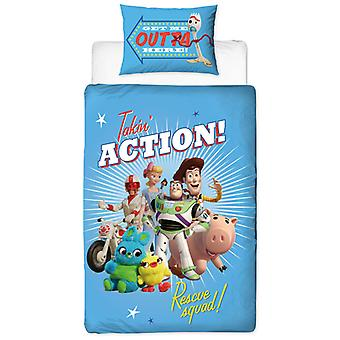 Toy Story 4 Rescue Duvet Cover and Pillowcase Set (en)