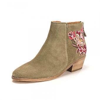 Joules Joules Langham Floral Suede Womens Ankle Boot With Embroidery (Z)