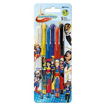 Gel pennen 5PK-DC Comics-DC Super Hero Girls iw1784