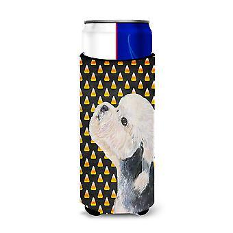 Dandie Dinmont Terrier Caramelo Corn Halloween Retrato Ultra BebidaS Aisladores f
