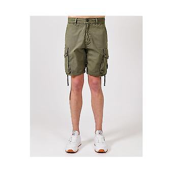 Marshall Artist Garment Dyed Cotton Khaki Cargo Pantaloncini