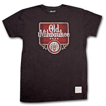 Vanha Milwaukee Beer Vintage miesten ' s musta T-paita