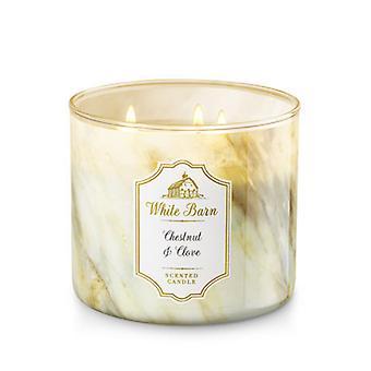 Bath & Body Works Chestnut & Clove 3 Wick Candle 14.5 oz / 411 g
