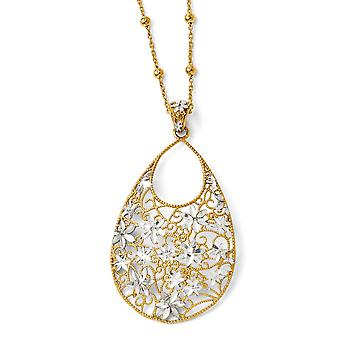 925 Sterling Silver polerad Fancy Hummer Stängning och 14k Guldpläterade halsband smycken gåvor för kvinnor