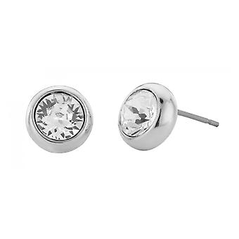 Traveller pierced earring - rhodium plated - 145042