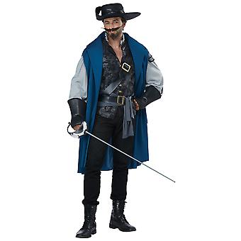 Deluxe Musketeer Solider Guard Renaissance French Warrior Mens Costume