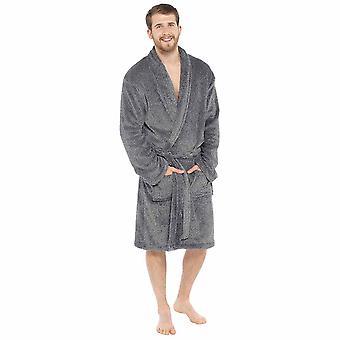 Robe de bain Mens Shawl Collar Fleece